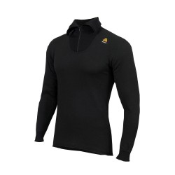 Aclima HotWool 230 g Polo Zip, L, JET BLACK