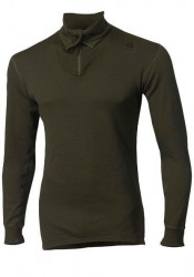 ACLIMA Hotwool Polo with Zip Unisex Olive 230g