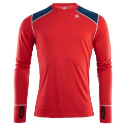 Aclima Lightwool Reinforced Crew Neck Man High Risk Red/Insignia Blue - XL