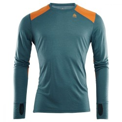 Aclima Lightwool Reinforced Crew Neck Man Tapestry / Orange Popsicle - M
