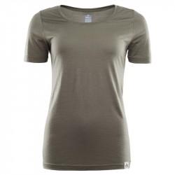 ACLIMA Lightwool T-shirt Round Neck Woman Ranger Green