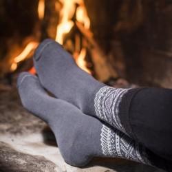Aclima Marius Wool Socks 2-pack, 40-43, OLIVE NIGHT+GREY