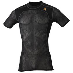 Aclima Mens Woolnet T-Shirt, L, JET BLACK