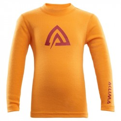 Aclima Warmwool Crew Neck Children - Cadmium Yellow - Tapestry