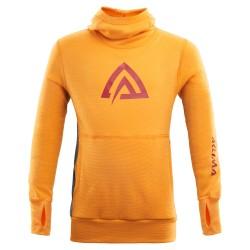 Aclima Warmwool Hood Sweater Children - Cadmium Yellow - Tapestry - 110