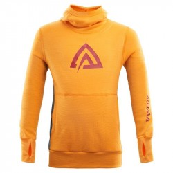 Aclima Warmwool Hood Sweater Children - Cadmium Yellow - Tapestry