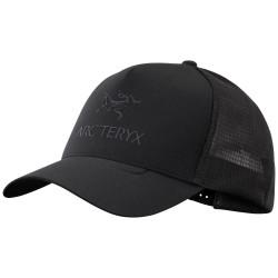 Arcteryx Logo Trucker Hat, ONE SIZE, BLACK