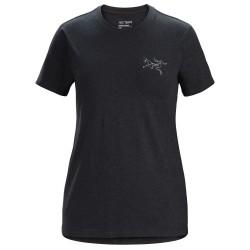 Arcteryx Womens Bird Emblem T-shirt S/S, XL, BLACK HEATHER