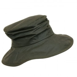 Barbour Wax Ladies Sports Hat Oliven S