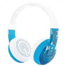 Blå robot wave buddyphones
