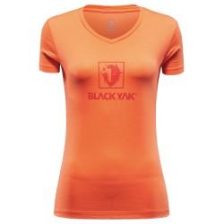 BlackYak Womens Senepol S/S Shirt, L, NASTURTIUM