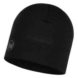Buff Midweight Merino Wool Hat, ONE SIZE, SOLID BLACK