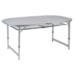 Campingbord premium oval 120 x 80 cm