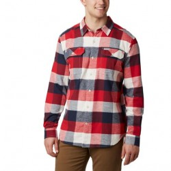Columbia Flare Gun Stretch Flannel Mens, Sea Salt Big Check