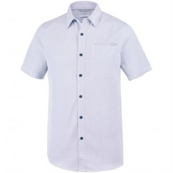 Columbia Nelson Point Short Sleeve Shirt Mens, Carbon / White