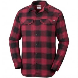 Columbia Silver Ridge Flannel Mens, Red Buffalo Plaid