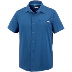 Columbia Triple Canyon Solid S/S Shirt Mens, Carbon