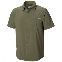 Columbia Triple Canyon Solid S/S Shirt Mens, Cypress