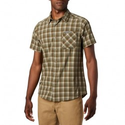 Columbia Triple Canyon S/S Shirt Mens, Fossil Mini Ton