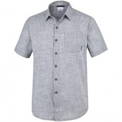 Columbia Under Exposure YD Short Sleeve Shirt Mens, Graphite