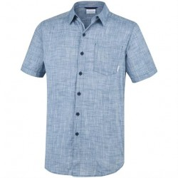 Columbia Under Exposure YD Short Sleeve Shirt Mens, Petrol