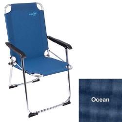 Copa Rio lavrygget campingstol (Blå)