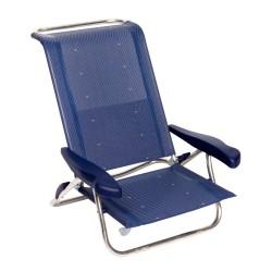 Crespo strandstol AL-222 Mørk Blå