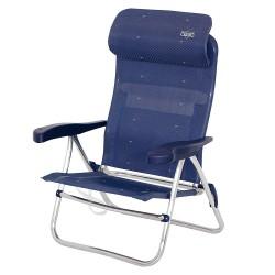 Crespo strandstol med nakkestøtte
