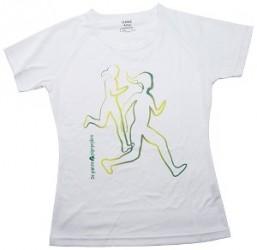 De grønne pigespejdere Hvid løbe T-shirt