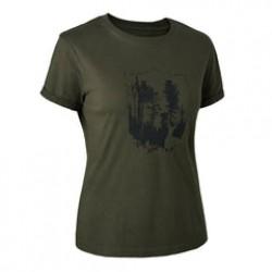 Deerhunter - Dame T-Shirt med Skjold
