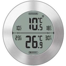 Digital trådløst inde- og ude termometer (alu.)