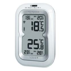 Digital trådløst inde- og ude termometer (hvid)