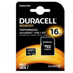 Duracell 16GB Micro SDHC Memory Card Hukommelseskort