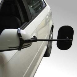 Emuk campingspejle Peugeot 4007 (2007 - 2012) inkl. 2 stk. XL spejlhoveder med konveks spejlglas