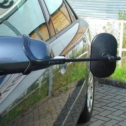Emuk campingspejle VW Golf VIII, Golf E Hybrid (December 2019->) inkl. 2 stk. XL spejlhoveder med konveks spejlglas