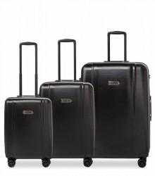 Epic Kuffert 3-set POP Neo 55-65-75cm 4 Wheel Black
