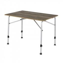Feather campingbord med bordplade i trælook 68 x 100 cm