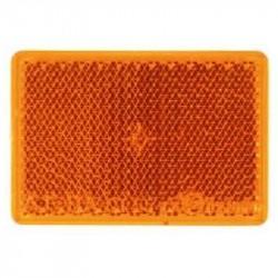 Firkantet refleks 38 x 56 mm, gul, selvklæbende, uindpakket