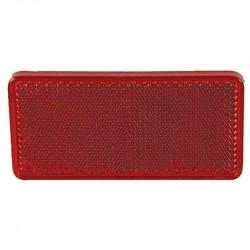 Firkantet refleks 44 x 94 mm, rød, selvklæbende, uindpakket