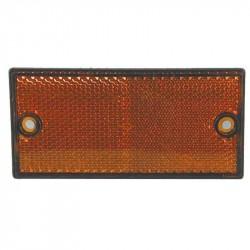 Firkantet refleks 50 x 106 mm, gul m/sort kant