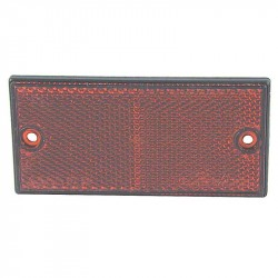 Firkantet refleks 50 x 106 mm, rød m/sort kant