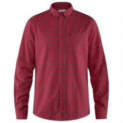 Fjällräven Övik Flannel Shirt Mens, Deep Red