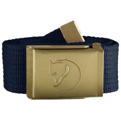 Fjällräven Canvas Brass Belt 4 cm, ONE SIZE, DARK NAVY/555