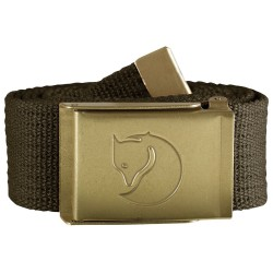 Fjällräven Canvas Brass Belt 4 cm, ONE SIZE, DARK OLIVE/633