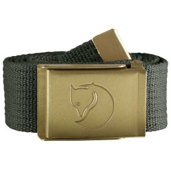 Fjällräven Canvas Brass Belt 4 cm, ONE SIZE, MOUNTAIN GREY/032