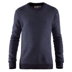 Fjällräven Mens Övik Nordic Sweater, XL, DARK NAVY/555
