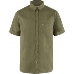 Fjällräven Mens Övik Travel Shirt S/S, M, GREEN/620