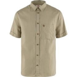 Fjällräven Mens Övik Travel Shirt S/S, XL, SAND STONE/195