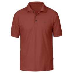 Fjällräven Mens Crowley Pique Shirt, XXL, DEEP RED/325
