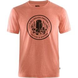Fjällräven Mens Fikapaus T-shirt, S, ROWAN RED-MELANGE/333-999